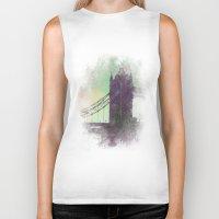 bridge Biker Tanks featuring Bridge by Nechifor Ionut