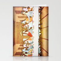 the last unicorn Stationery Cards featuring Last Supper Unicorn by That's So Unicorny