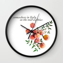 Call Me By Your Name - Inscription Wall Clock