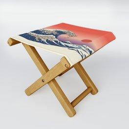 The Great Wave of Shiba Inu Folding Stool