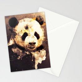 Panda Painting, Panda Mixed Media, Panda Bear, Panda Animal, Pandas Art, Panda Print, Best Panda Stationery Cards