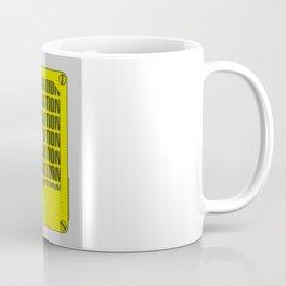 Caution Tape Coffee Mug