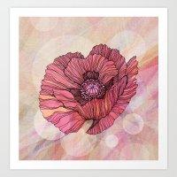 poppy Art Prints featuring Poppy by Annike