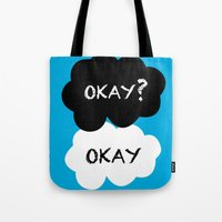 okay Tote Bags featuring Okay by Hoeroine