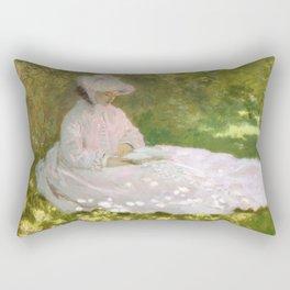 Springtime by Claude Monet Rectangular Pillow