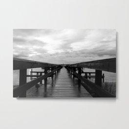 Rainy Dock Metal Print
