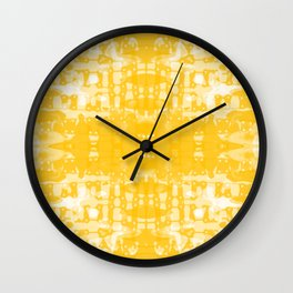 Yellow Tie Dye Jacobs Ladder Wall Clock