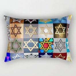 Star of David Montage Rectangular Pillow