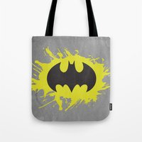 bat man Tote Bags featuring Bat Man by Some_Designs