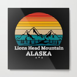 Lions Head Mountain Alaska Metal Print