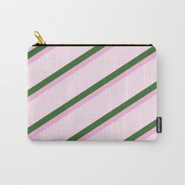 Pink Roses in Anzures 2 Stripes 4D Carry-All Pouch