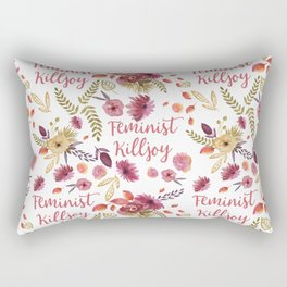 'Feminist Killjoy' cute floral print Rectangular Pillow