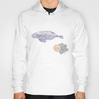 manatee Hoodies featuring Space Manatee by Kristin Garcia