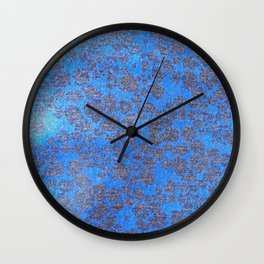 Blue Leopard Print Wall Clock