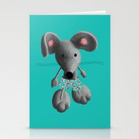 rat Stationery Cards featuring Rat by Laurel