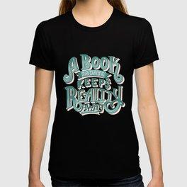 Book A Day Keeps Reality Away - Peach Mint T-shirt