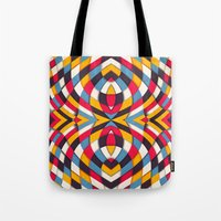 stained glass Tote Bags featuring Stained Glass by Danny Ivan
