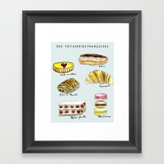 Des Pattisseries Francais Framed Art Print