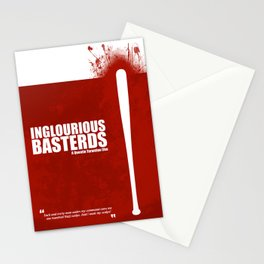 Inglourious Basterds. Minimal Movie Poster - A Quentin Tarantino Film. Stationery Cards