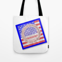 Stars And Stripes Condom Tote Bag
