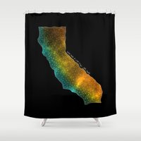 sagan Shower Curtains featuring California StarStuff by Yespo Designs
