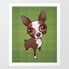 Zippy the Boston Terrier Art Print