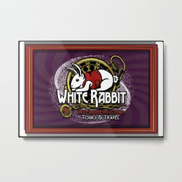 White Rabbit: Interdimensional Tours & Travel Logo Metal Print