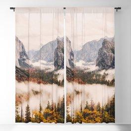 Amazing Yosemite California Forest Waterfall Canyon Blackout Curtain
