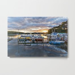 Narooma Marina Sunset Metal Print