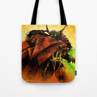spawn Tote Bags featuring Hellspawn by Fresh Doodle - JP Valderrama