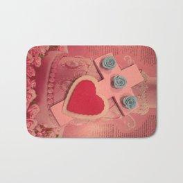 pink cross Bath Mat