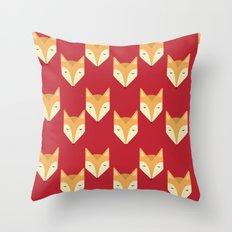 Mr. Fox Pattern Throw Pillow