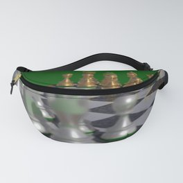 Chess Tournament POV Ray Tracing Fanny Pack