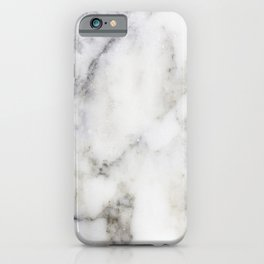 Gray Marble Print iPhone Case