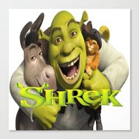 shrek Canvas Prints featuring shrek by store2u