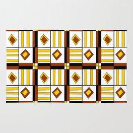 symetric tartan and gingham 10 -vichy, gingham,strip,square,geometric, sober,tartan Rug