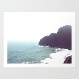 Coastline in La gomera island Art Print