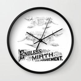 Endless Mirth and Amusement Wall Clock