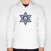 israel Hoodies featuring Israel Peace Symbol - 032 by Lazy Bones Studios