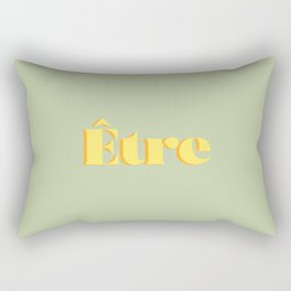 Être - One word motivation inspiration - To be in French - Being - Esoteric - Green and Yellow Rectangular Pillow