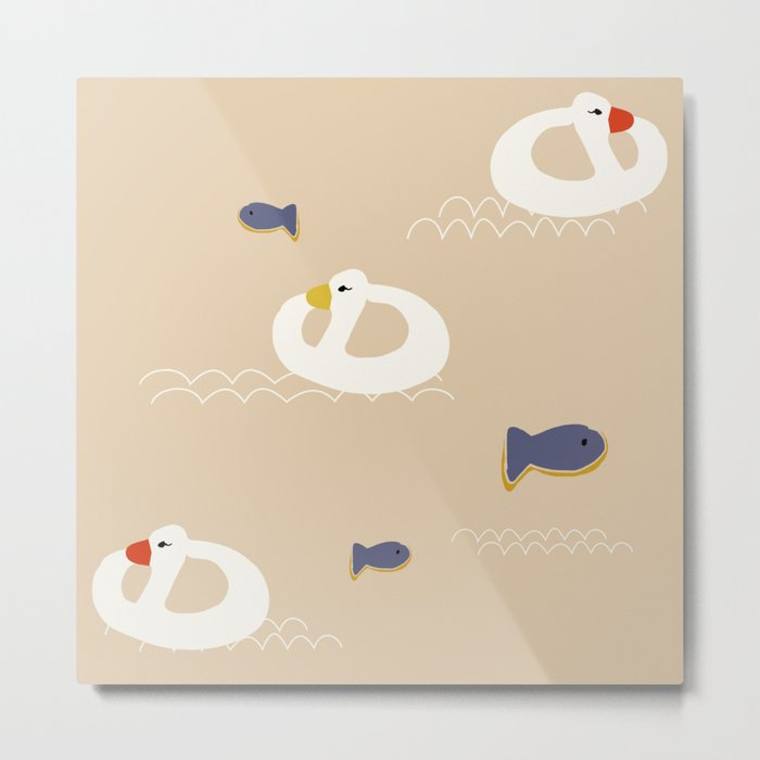 Duck Beach buoy Metal Print