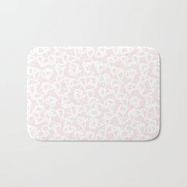 Blush Pink White Abstract Bath Mat