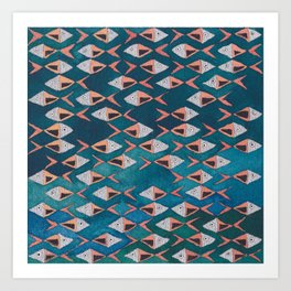 School of Fish Pattern Art Print