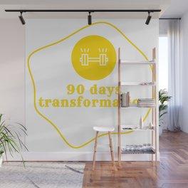 90 days transformation gym workout digital art design Wall Mural