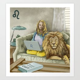 Leo Sign Art Print