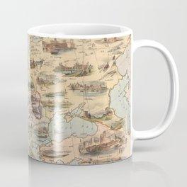 Vintage Map of Europe (1842) Coffee Mug