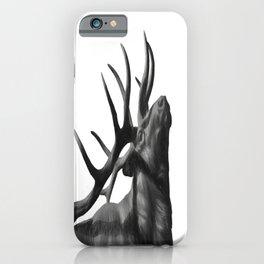 Elk in Black in White iPhone Case