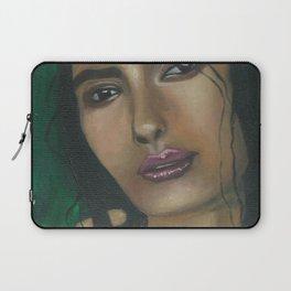 Lady in Green Laptop Sleeve