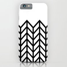 BLACK & WHITE LACE CHEVRON iPhone 6s Slim Case
