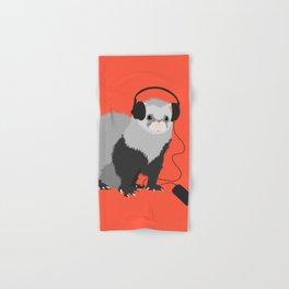 Music Loving Ferret Hand & Bath Towel